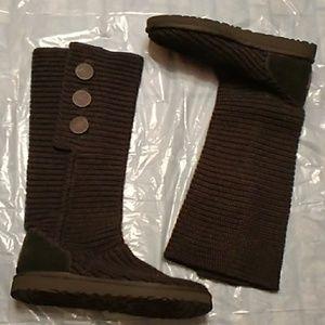 UGG Australia Black Tall Knit Boots